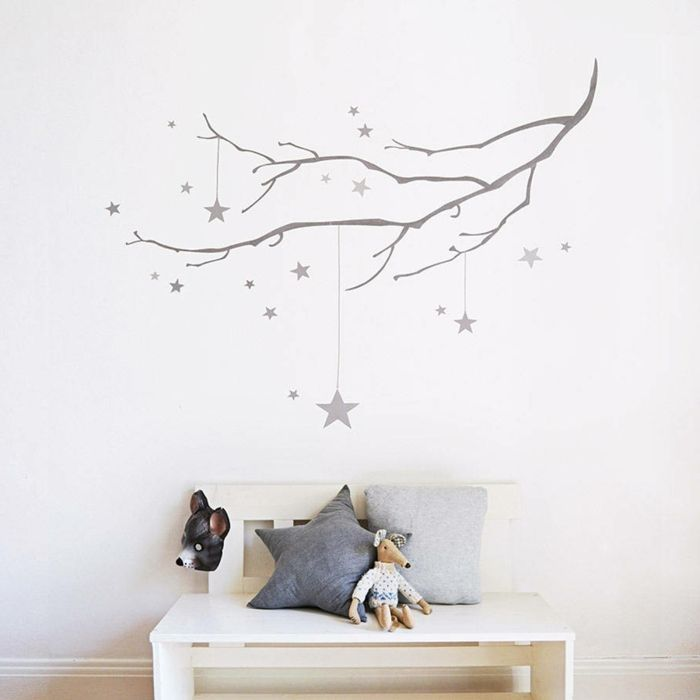 1001 ideas de vinilos decorativos para tu interior - Vinilos infantiles pared gotele ...