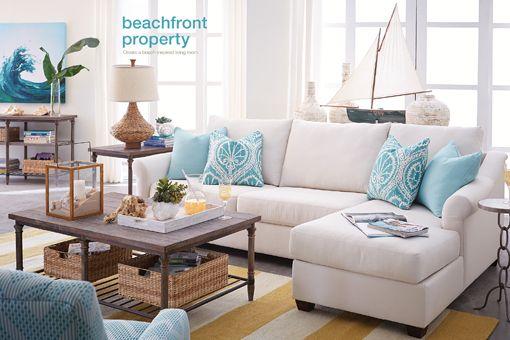 Gorgeous Coastal Design By Havertys Furniture Furniture Havertysrefresh Modern Coastal Decor Coastal Furniture Coastal Living Room