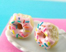 kids small stud donut earings - Google Search