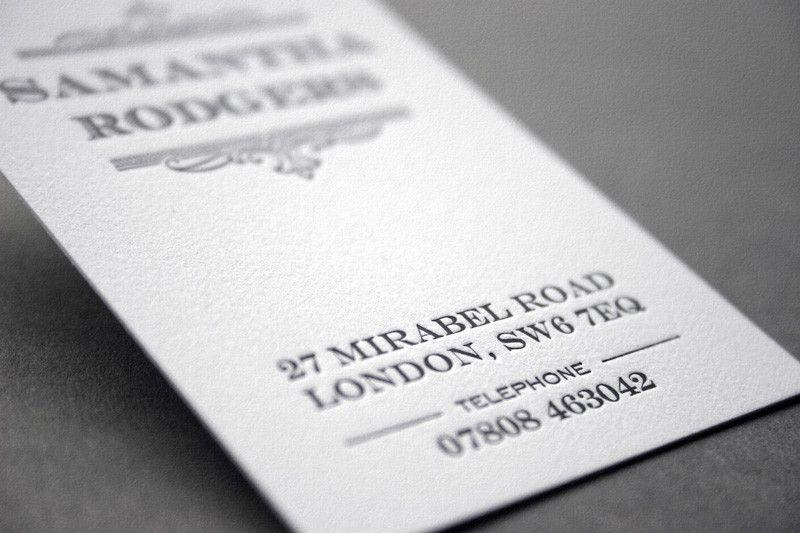 250 Letterpress Business Cards GBP59