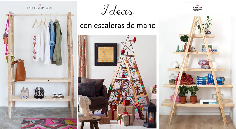 3 IDEAS PARA REUTILIZAR ESCALERAS DE MANO EN DECORACION | Reciclado ...