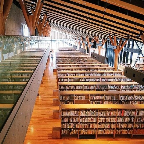 Hanno City Library / Hanno-city, Saitama, Japan Completed in 2013 Architect: Ishimoto Architectural & Engineering Firm༺ ♠ ŦƶȠ ♠ ༻
