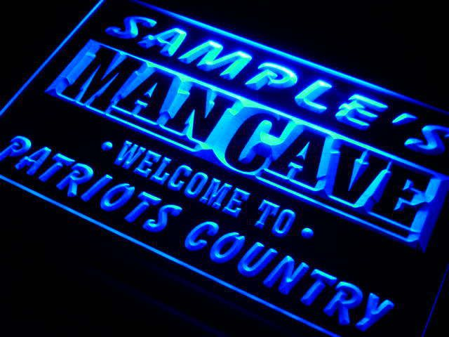Custom Man Cave LED sign Patriots Country peronalized