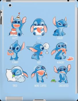 Stitch Emoticon! Ipad Snap Case by Ewelsart