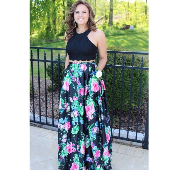 Floral Prom Dress My Posh Picks Pinterest Prom Dresses