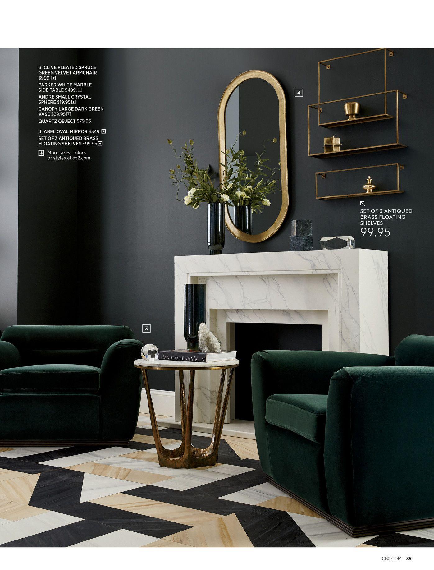 Best Cb2 October Catalog 2018 Page 34 35 Green Velvet 400 x 300