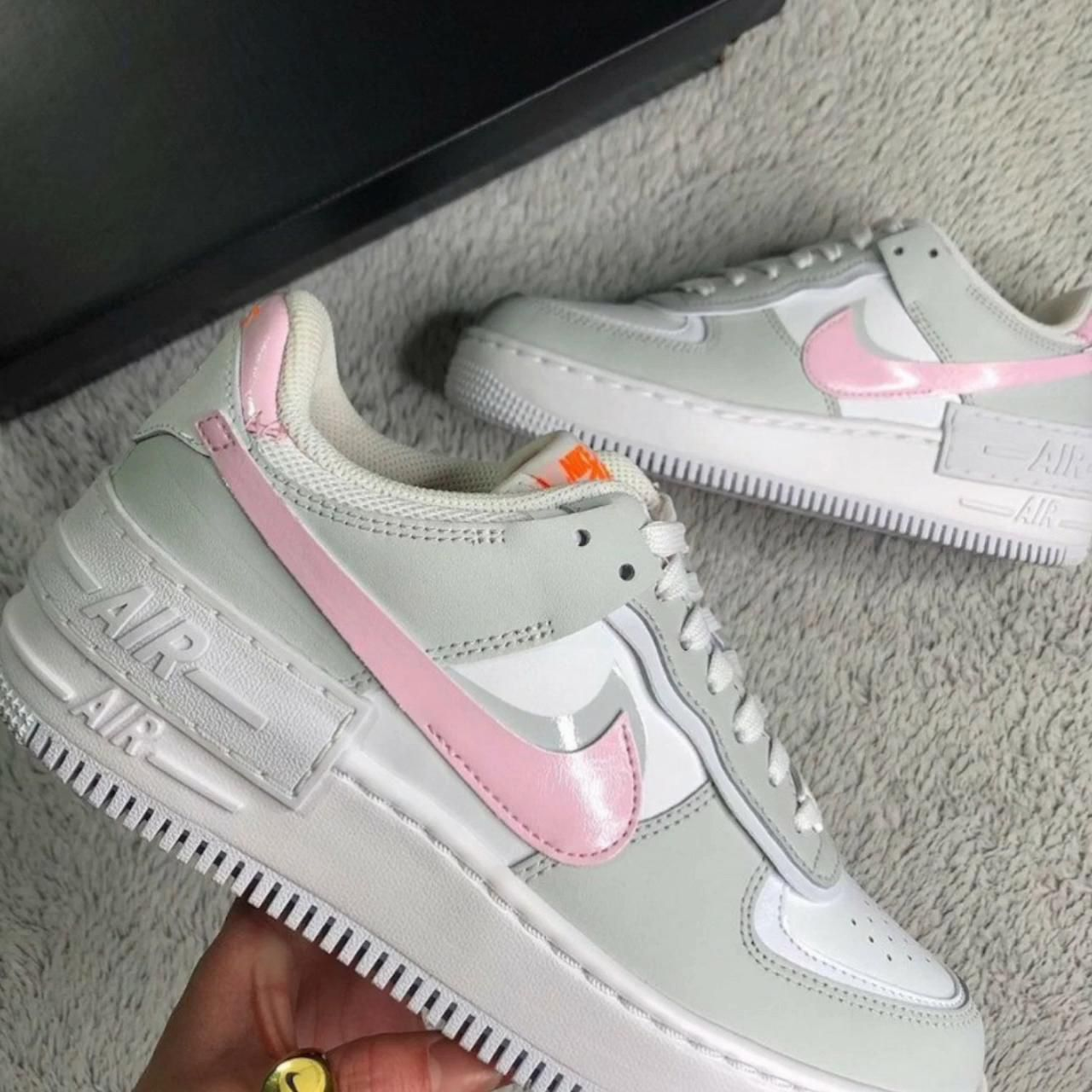 Nike Af1 Shadow White Total Orange Photon Dust Pink Foam Nike Shoes Air Force Womens Slippers Nikes Girl Nike air force 1 shadow photon dust tint gr. nike af1 shadow white total orange