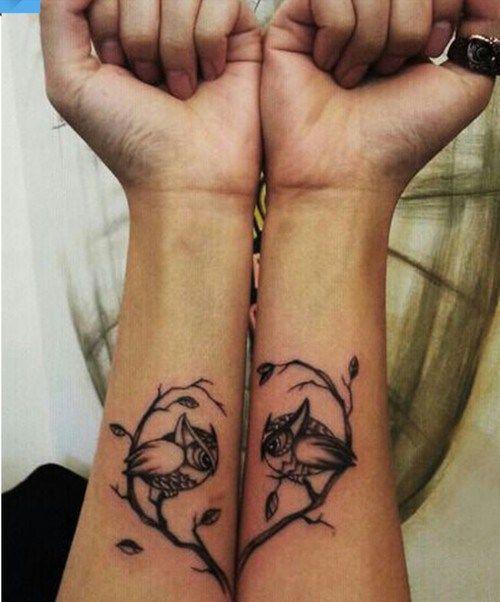 owl match tattoo