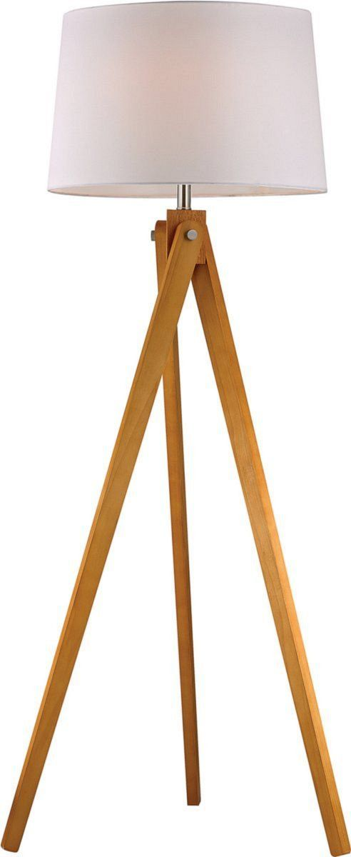 1 Light Tripod Floor Lamp Natural Wood Tone Wooden Tripod Floor Lamp Floor Lamp Transitional Floor Lamps