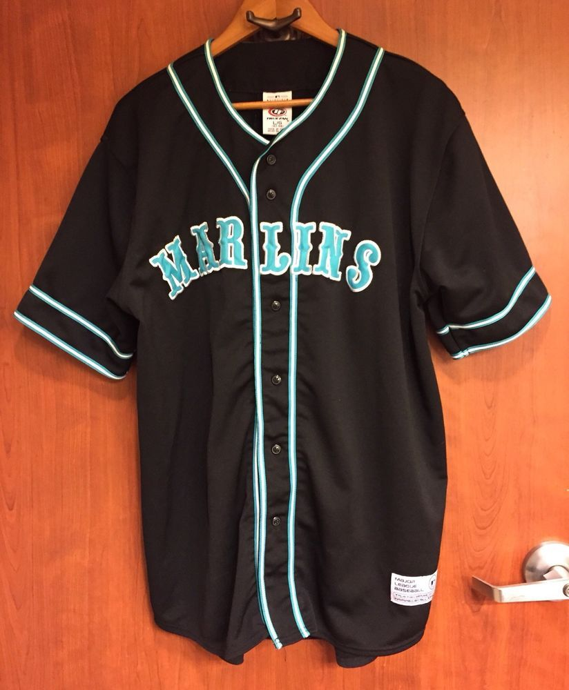 sale retailer 79417 ea7c8 ☀True Fan Series☀MLB Florida Miami Marlins Baseball Jersey ...