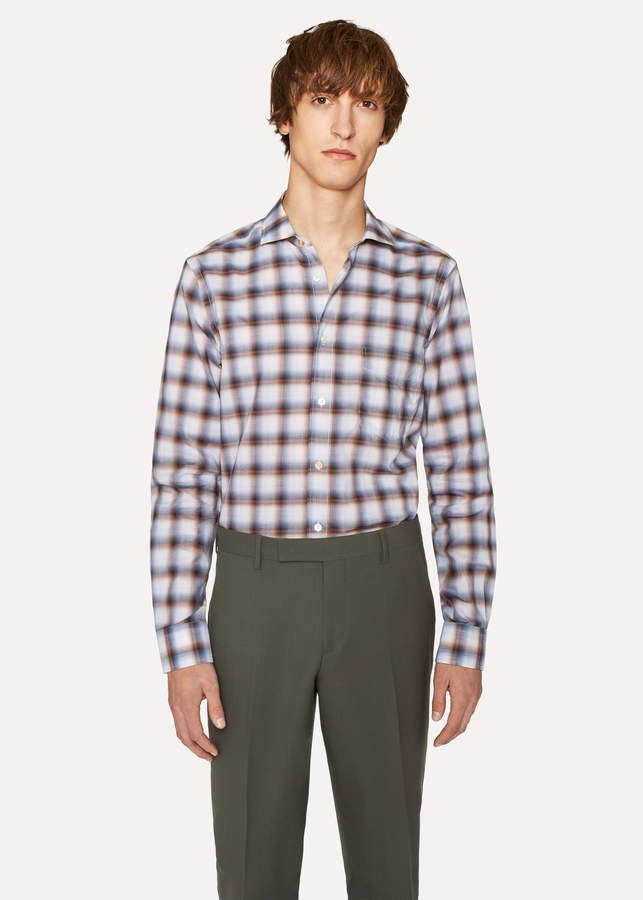 24 Best Men S Casual Outfits Vintagetopia: Paul Smith Men's Tailored-Fit Ombre Check Cotton Shirt