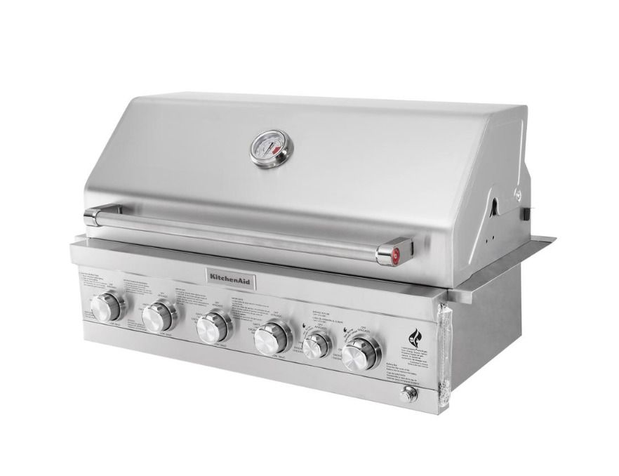 Details About Gas Grill Island Top 36 4 Burner Built In Propane Patio Outdoor Kitchen Bbq New Built In Outdoor Grill Grill Island Outdoor Kitchen