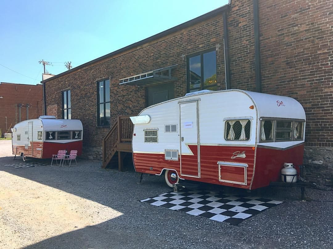 Rent a vintage style camper from The Flying Ham to be used