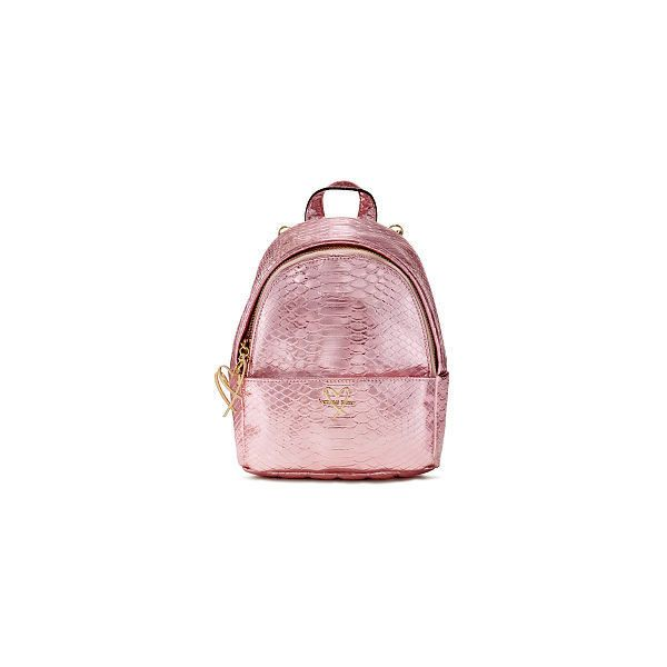 Luxe Python Mini City Backpack (£45) ❤ liked on Polyvore featuring bags 4600f6a27f27e