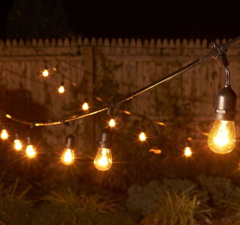 Bulbrite 48 15 light e26 outdoor vintage warm white string lights bulbrite 48 foot outdoor string lights with vintage style light bulbs and a warm white aloadofball Choice Image