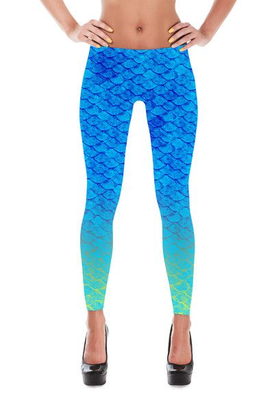 ed51566591006 Mermaid Leggings - Yoga Pants - Capri - Shorts | Cool outfits | Kleidung
