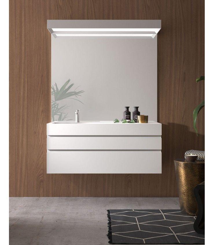 Mueble blanco para tu baño Un conjunto blanco para el ...