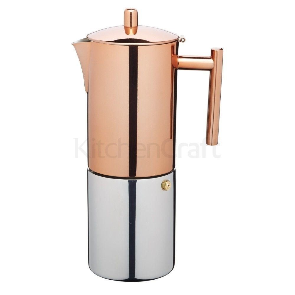 LeXpress Stainless Steel Copper Effect Espresso Coffee