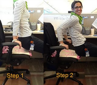 At Work Move Of The Day Chair Dips Moms Little Running Buddy Office Workout Routine Running Buddies Office Exercise