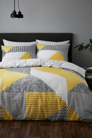 Catherine Lansfield Larson Geo Duvet Cover and Pillowcase