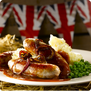 english sausages and mash - Google Search