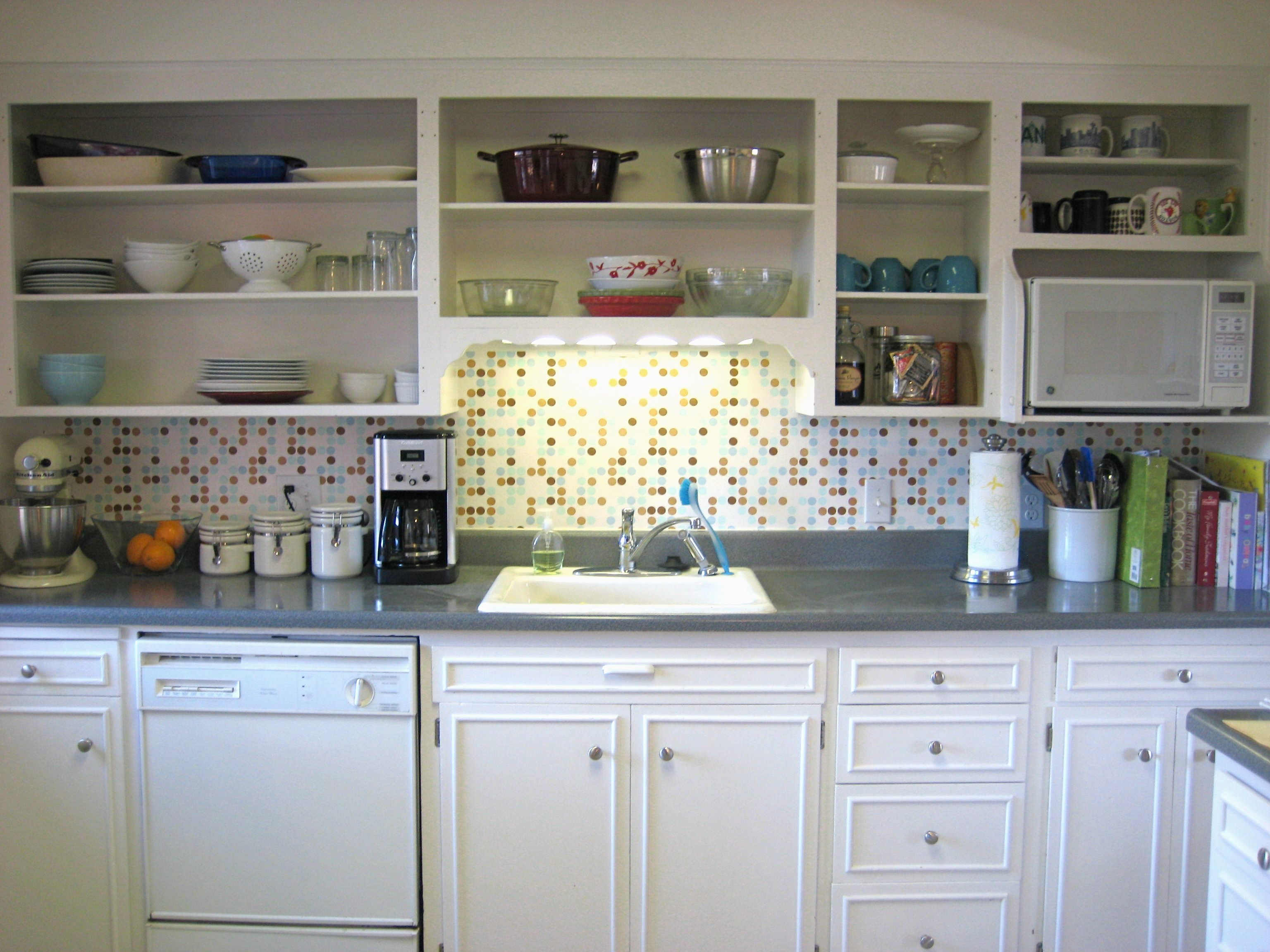 kitchen inspiration with open shelves sliding door design | Best Way to Paint Kitchen Cabinets: A Step by Step Guide # ...