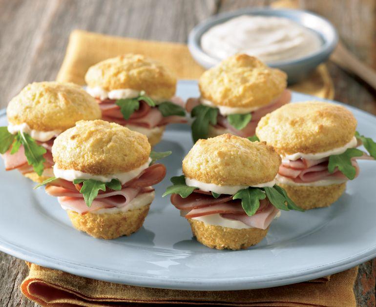 Ham And Cornbread Sliders Daisy Brand Sour Cream Cottage Cheese Recipe Recipes Slider Recipes Creamed Cottage
