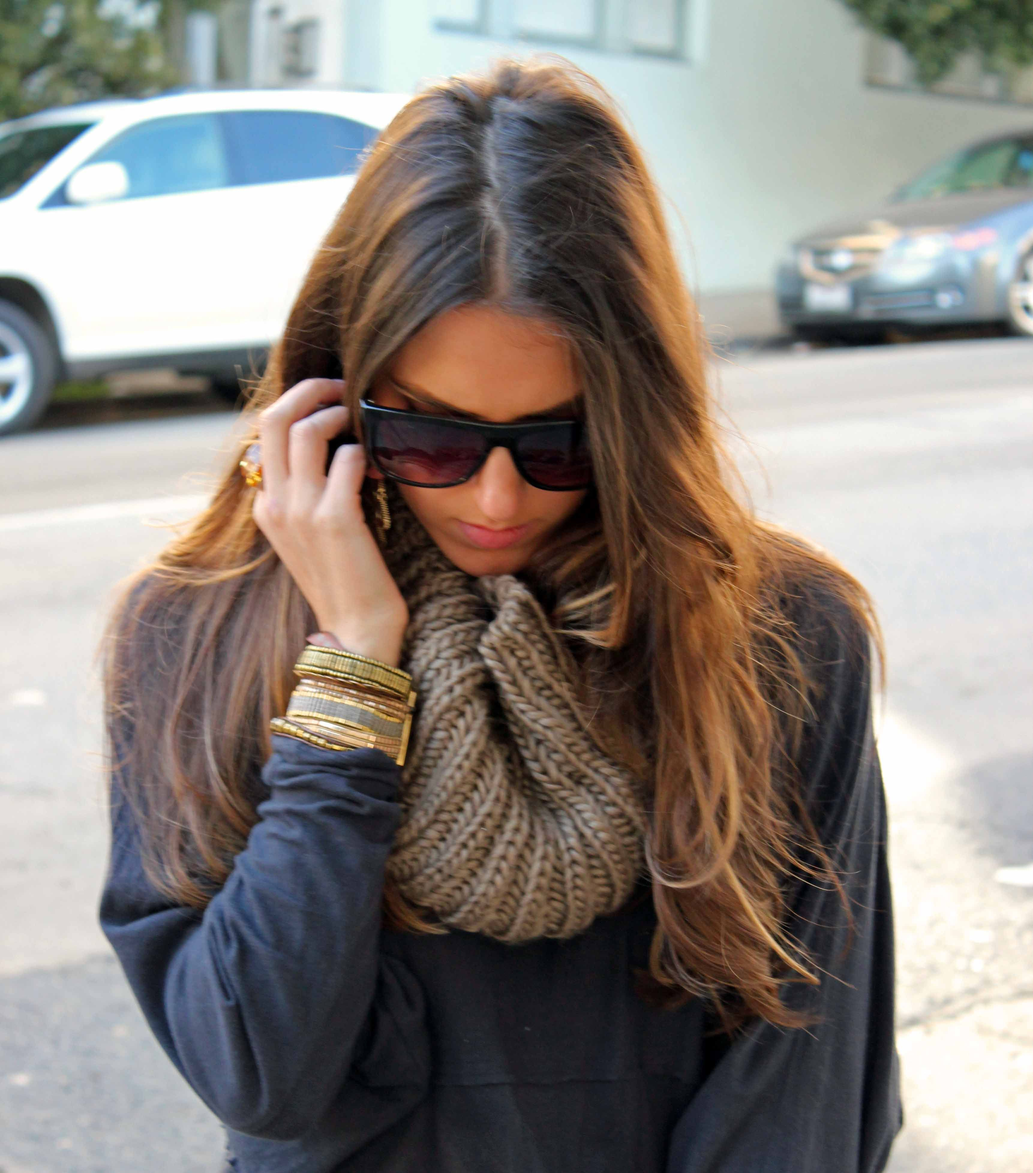 chunky knit scarf   My Outfits: Boho   Pinterest   Chunky ...
