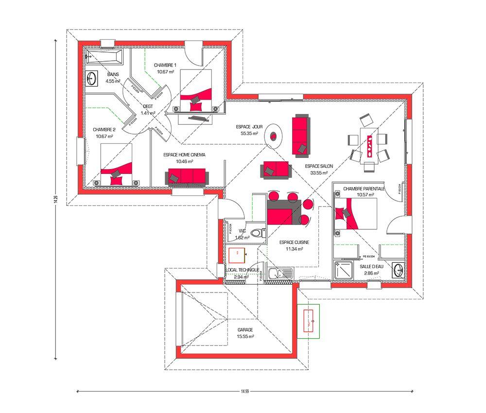 Faire un plan de maison en ligne top un plan de grande - Faire un plan de chambre en ligne ...