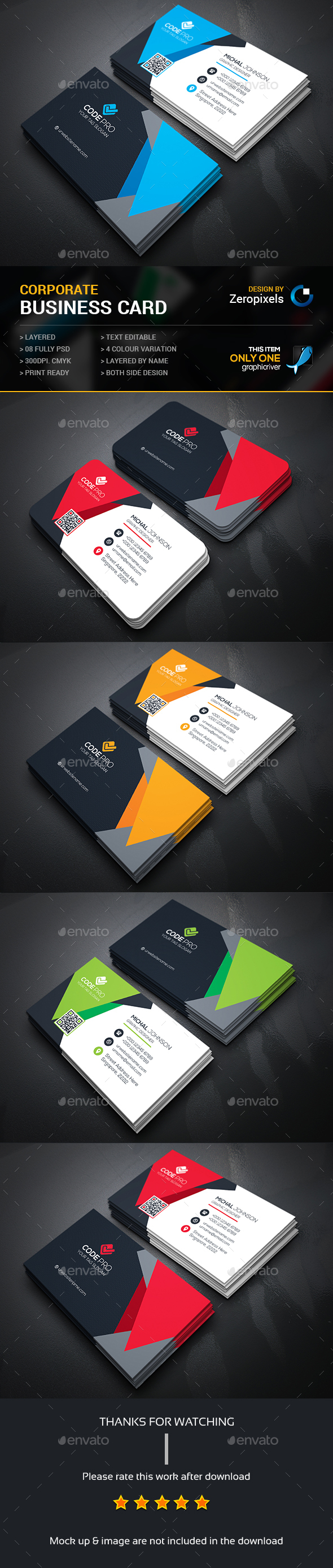 Business card photoshop psd bundle flyer available here business card by zeropixels reheart Image collections