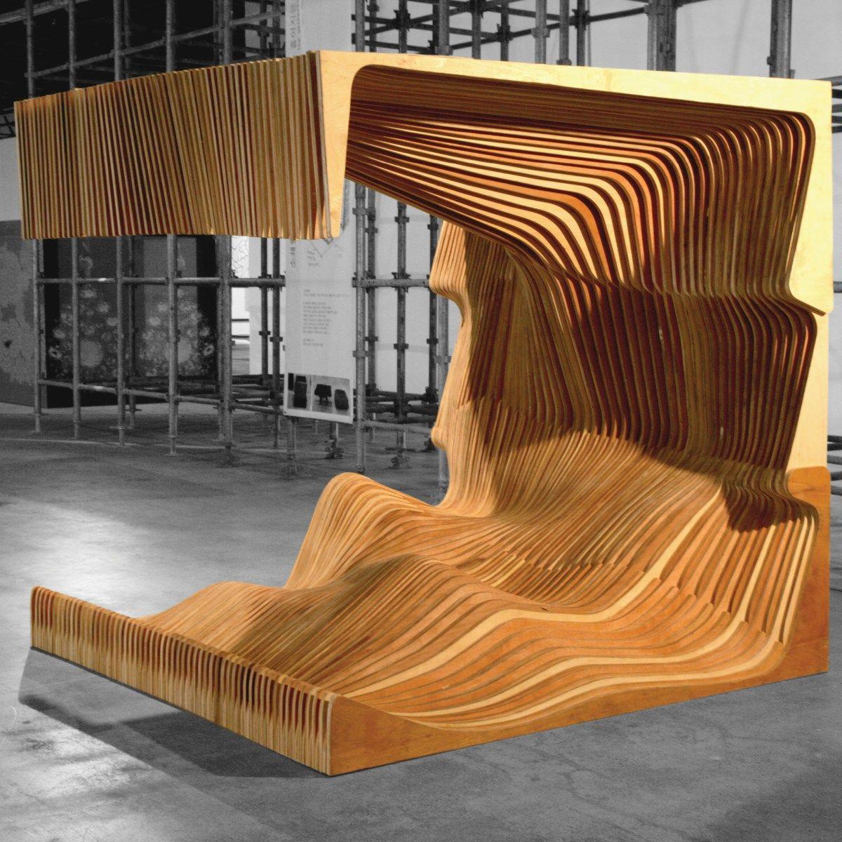 Gwangju Urban Bench Furniture Design Wood Architecture Cnc