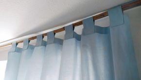 Vorhang mit Schlaufen nähen - Toll erklärt :-) | Gardinenschals ...