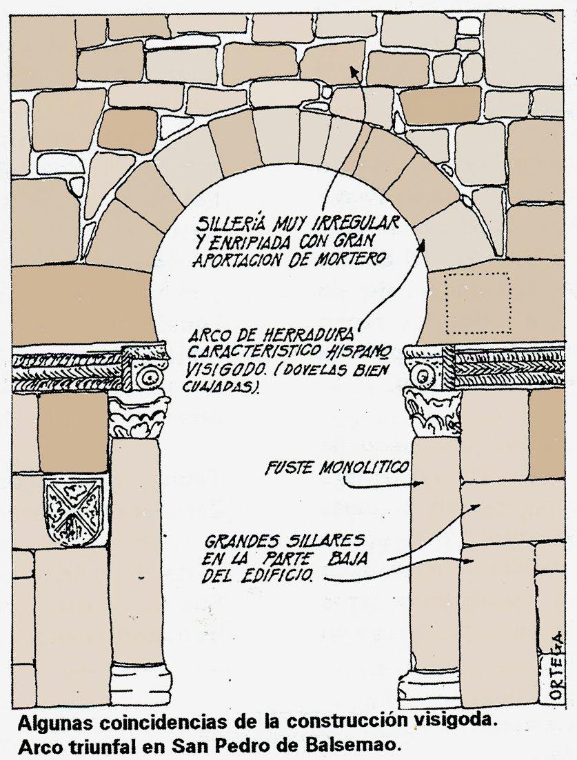 Arco de herradura visigodo m s abierto del que se usar for Arquitectura que se estudia