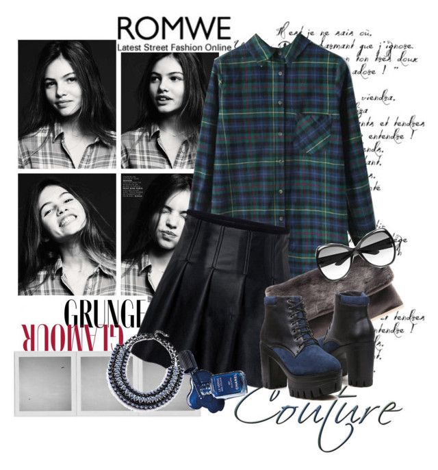 """""""Grunge glamour.... by Romwe"""" by tinuviela ❤ liked on Polyvore featuring Holga and Yves Saint Laurent"""