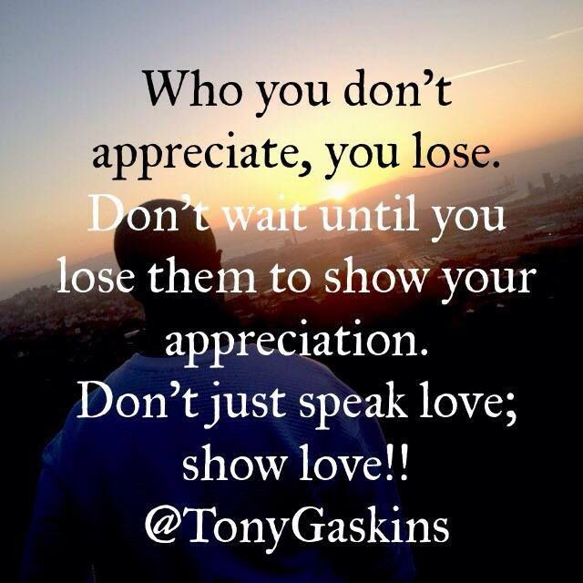 Show your love now not later