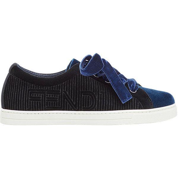 two-tone logo sneakers - Black Fendi XVAnB3