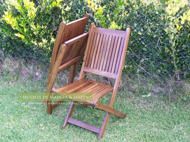 Sillas de madera plegables muebles de jardin en 2019 for Sillas plegables jardin