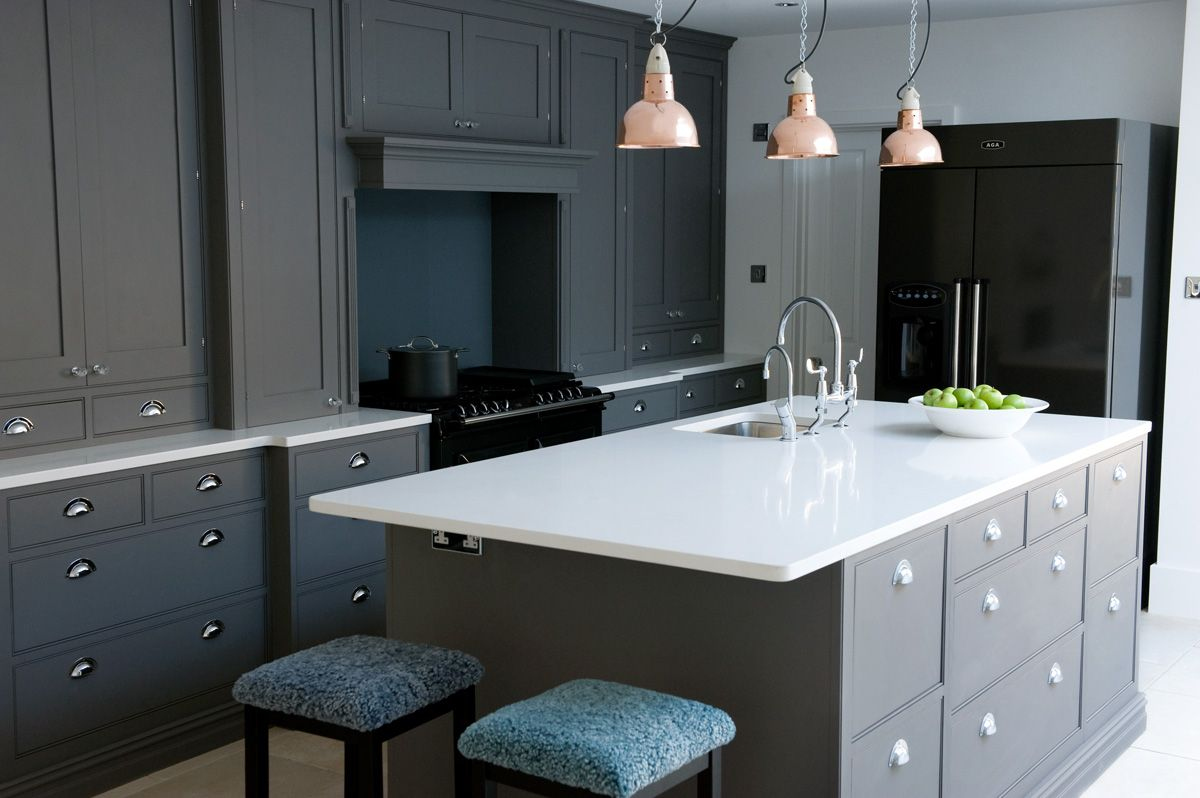 Newport In Dark Grey Sola Kitchens Sola Kitchens Dreaming Of A - Dark grey kitchen units