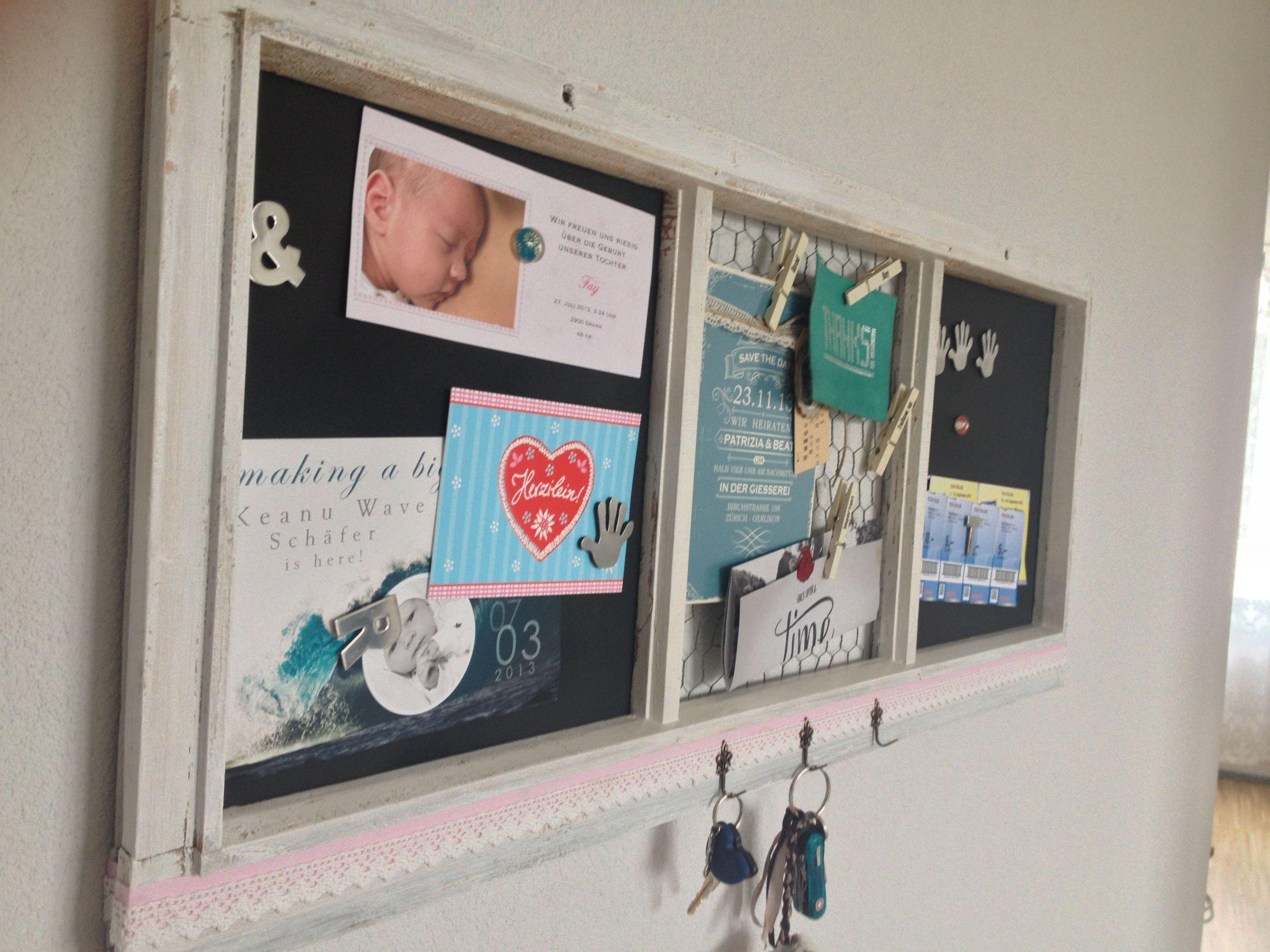 Altes Fenster als Memoboard | Diy and decor inspiration | Pinterest ...