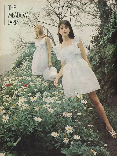May 1967. 'Want to live with larky charm on any summer landscape? Try your wings in little doll dresses.'