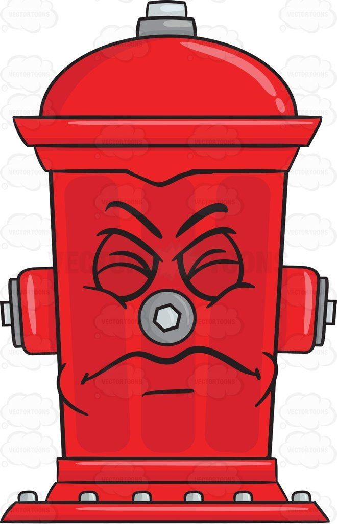 irritated and disgusted look on fire hydrant emoji vector clipart rh pinterest com fire house clipart fire truck hose clipart