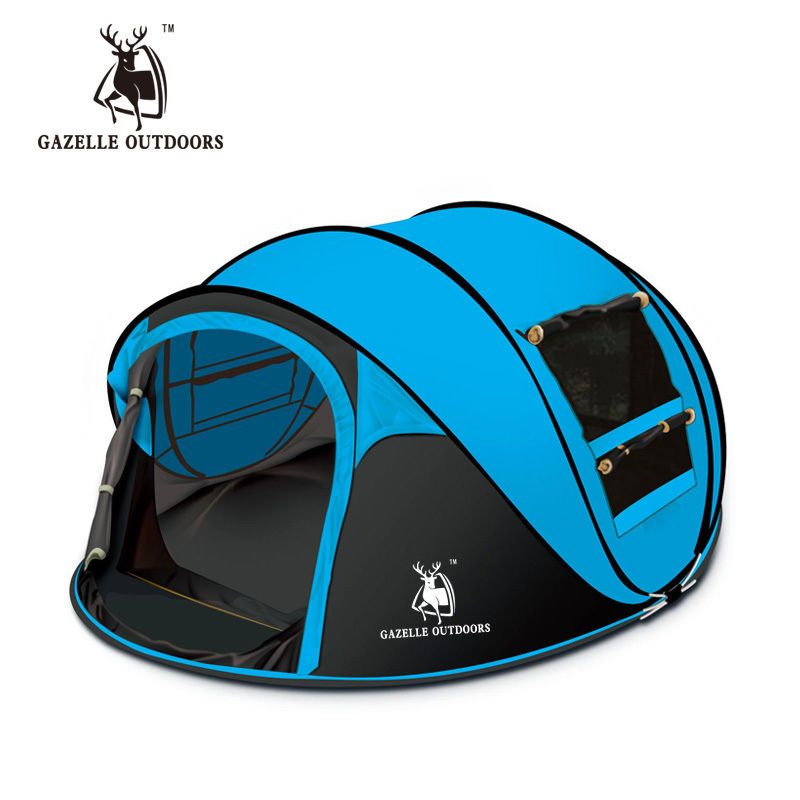 Camping Tent Waterproof Outdoor 3-4 Persons Automatic Pop Up Hiking Travel Tent #CampingTentChina #PopUp