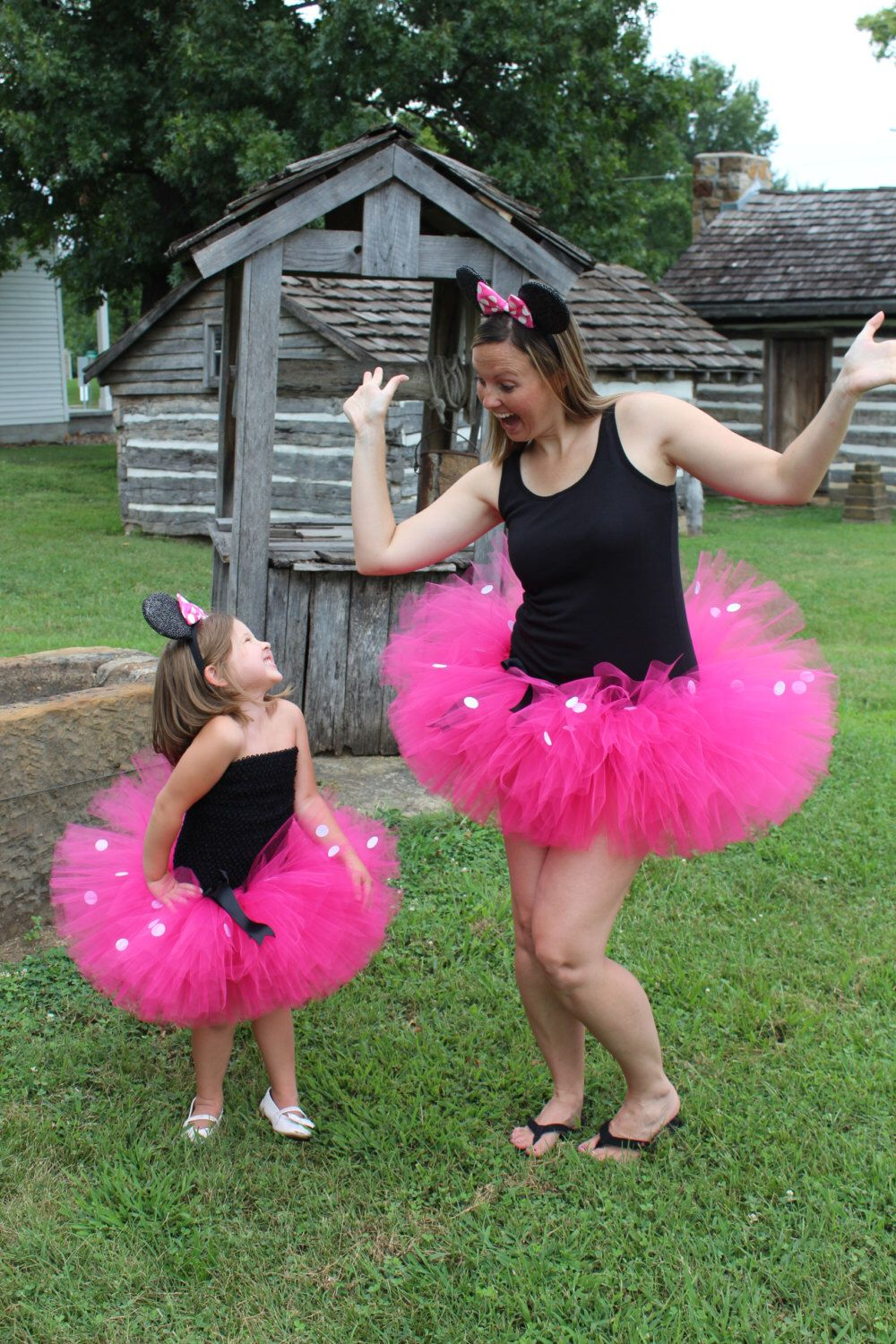 8012cbcf5c Minnie Mouse inspired tutu dress with ears - birthday tutu - mother  daughter tutu by PamperedPaisley