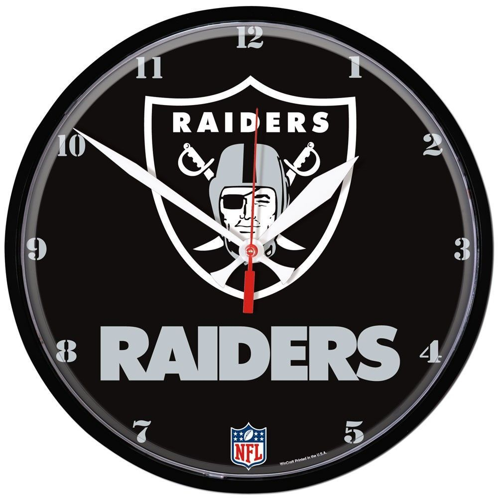 Nfl wall clocks gallery home wall decoration ideas raiders nfl wall clock 12 clock products and wall clocks raiders nfl wall clock 12 amipublicfo amipublicfo Gallery