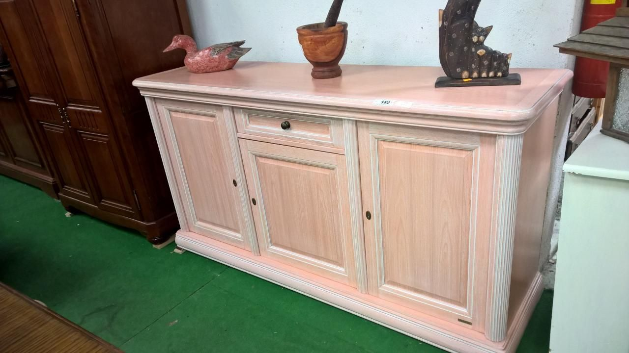 10120.1 buffet bas ceruse rose a 180€ | occasion mobilier