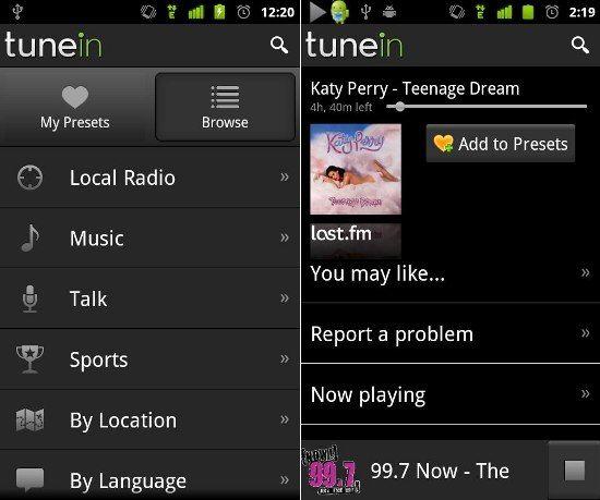 TuneIn Radio APK for Android Radio
