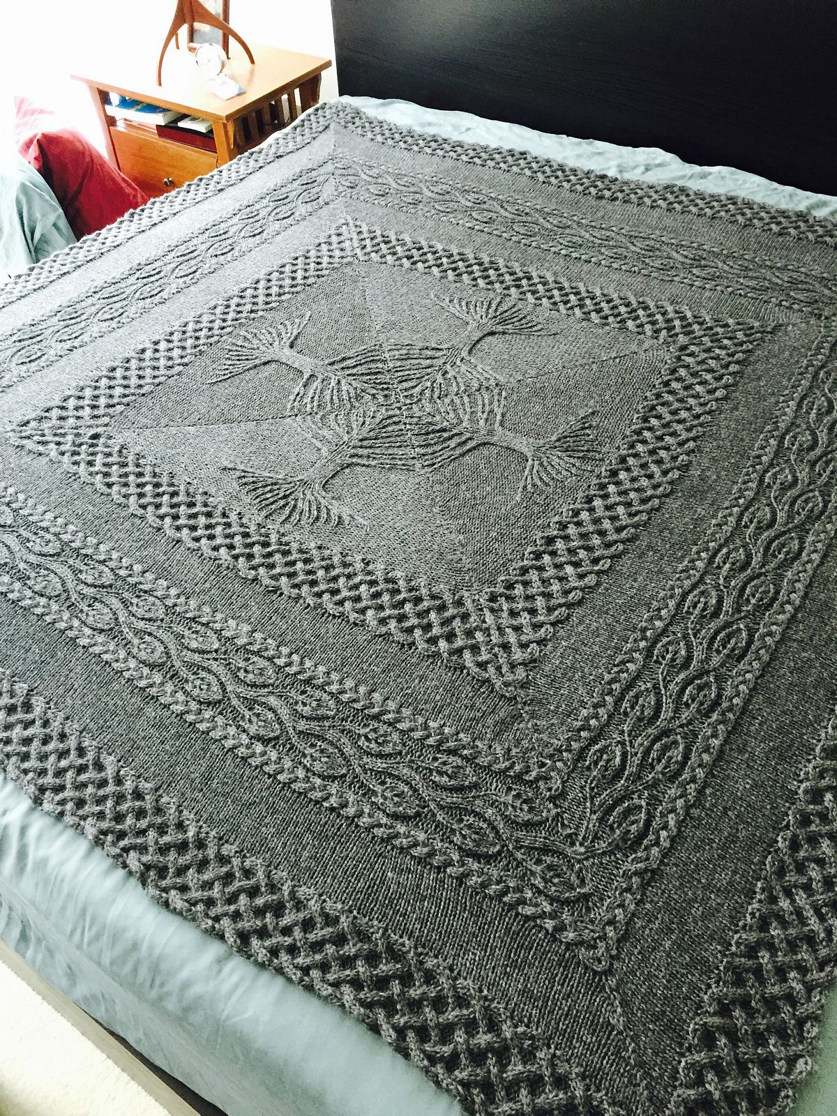 Cable Afghan Knitting Patterns | Norse mythology, Lace patterns and ...
