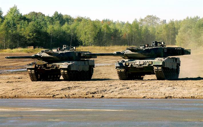 Lataa kuva Leopard 2, Saksan tankit, Leopard 2A6, Saksa, Saksalainen panssarivaunu, Moderni panssaroituja ajoneuvoja