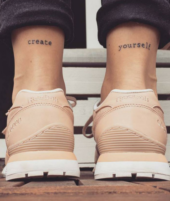 create yourself. choose for yourself a model of behavior | tattoos