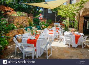 Backyard Party Table Settings